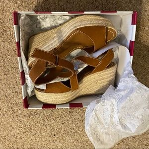 Circus by Sam Edelman Shoes - Sam Edelman Delilah Luggage Espadrille Wedges